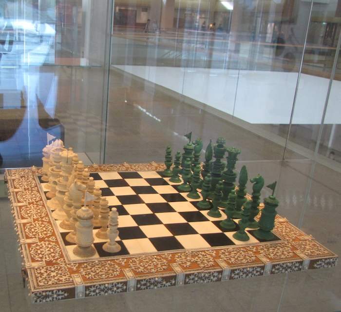 photo of chess set, at the Islamic Art Museum, Malaysia