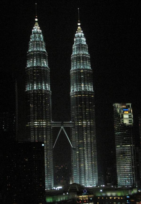 photo of Petronas towers at night, Kuala Lumpur