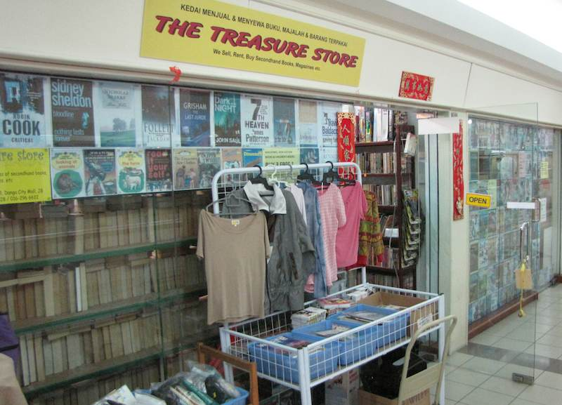 photo of the front of the Treasure Book Store in Johor Bahru
