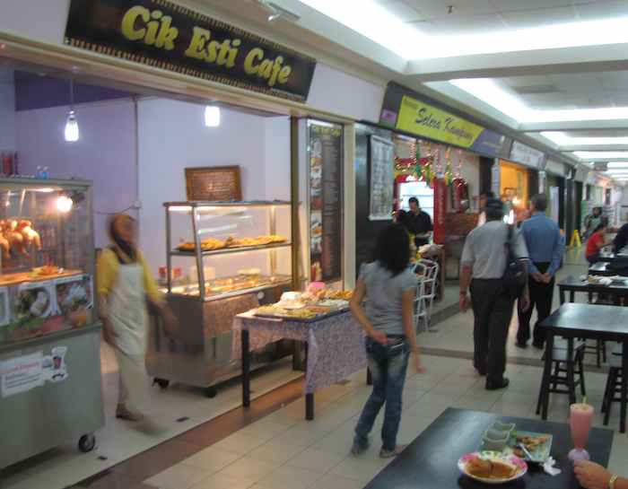 view of some of the food options at Danga City Mall