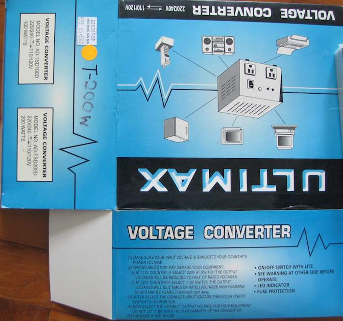 photo of voltage converter box