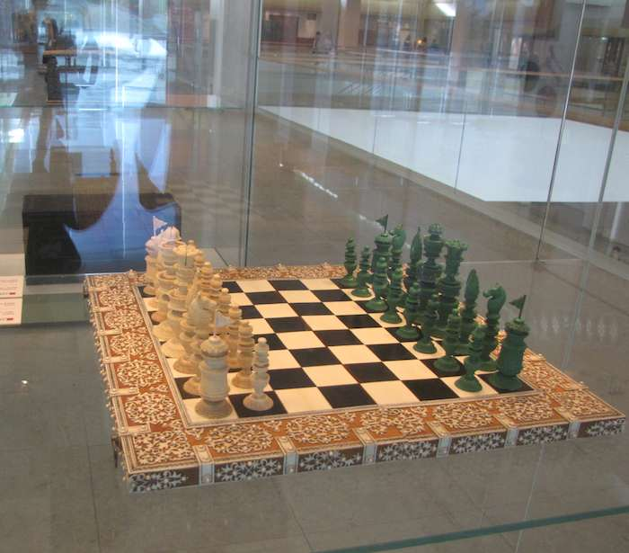 photo of a beautiful chess set