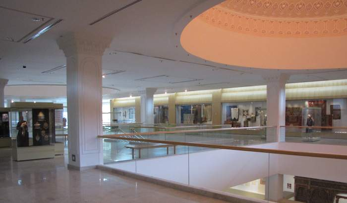 View of gallery inside Islamic Arts Museum