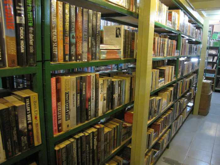 photo of books on shelves in the store