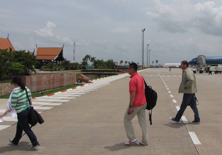 photo of the outside of the airport at Siem Reap, Cambodia