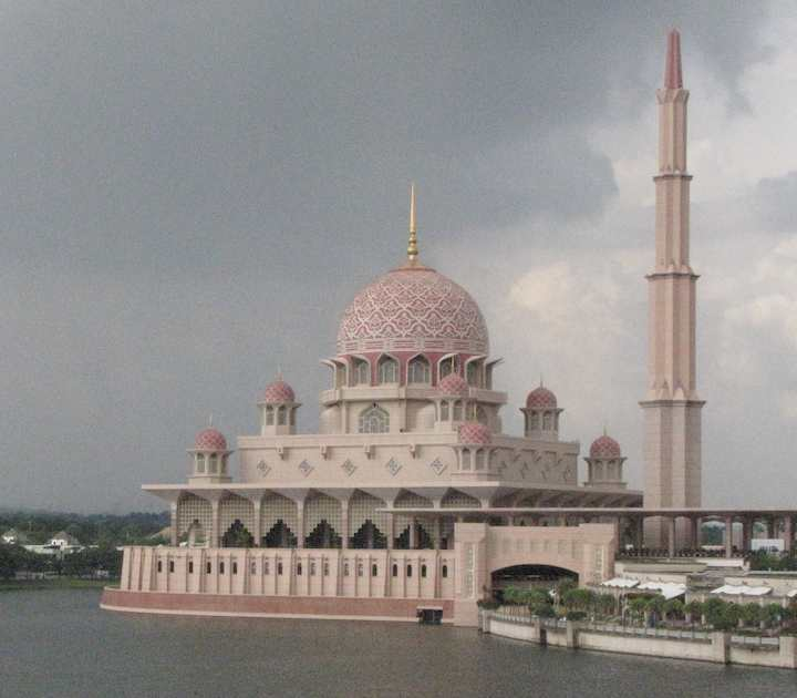 photo of the pink Mosque, Putrajaya