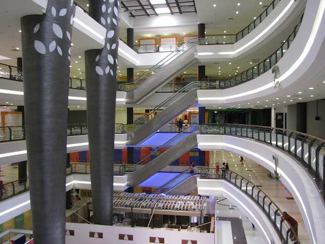 photo of the inside of the Galleria @ Kotaraya mall