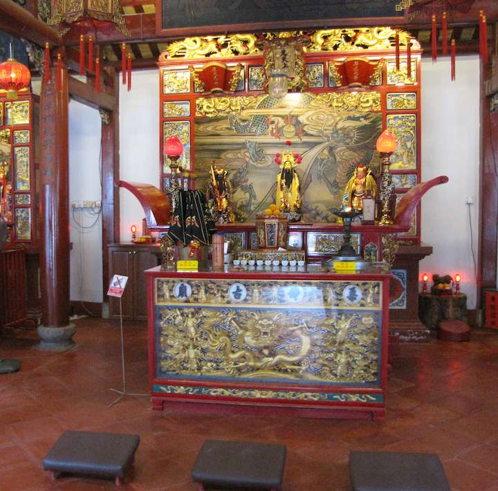 photo inside old chinese temple