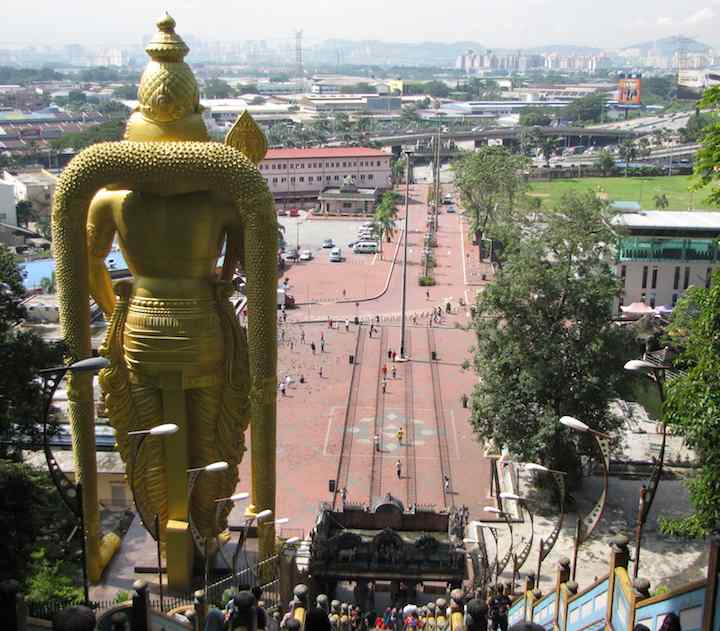 photo of the view from the Batu Caves stairway