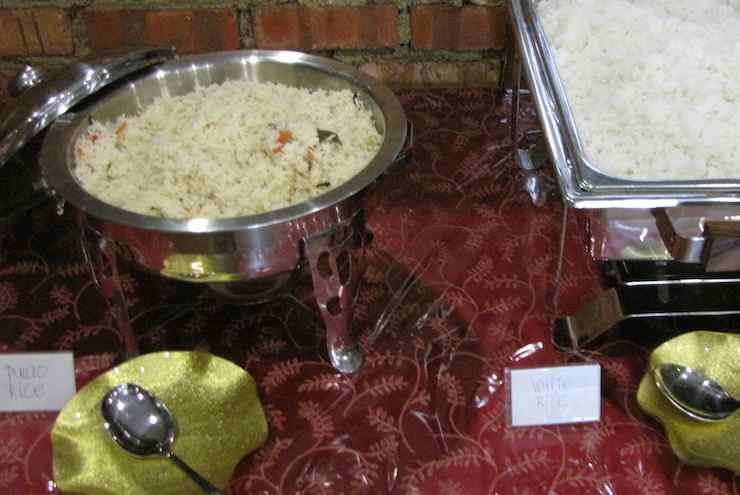 photo of rice dishes at the buffet