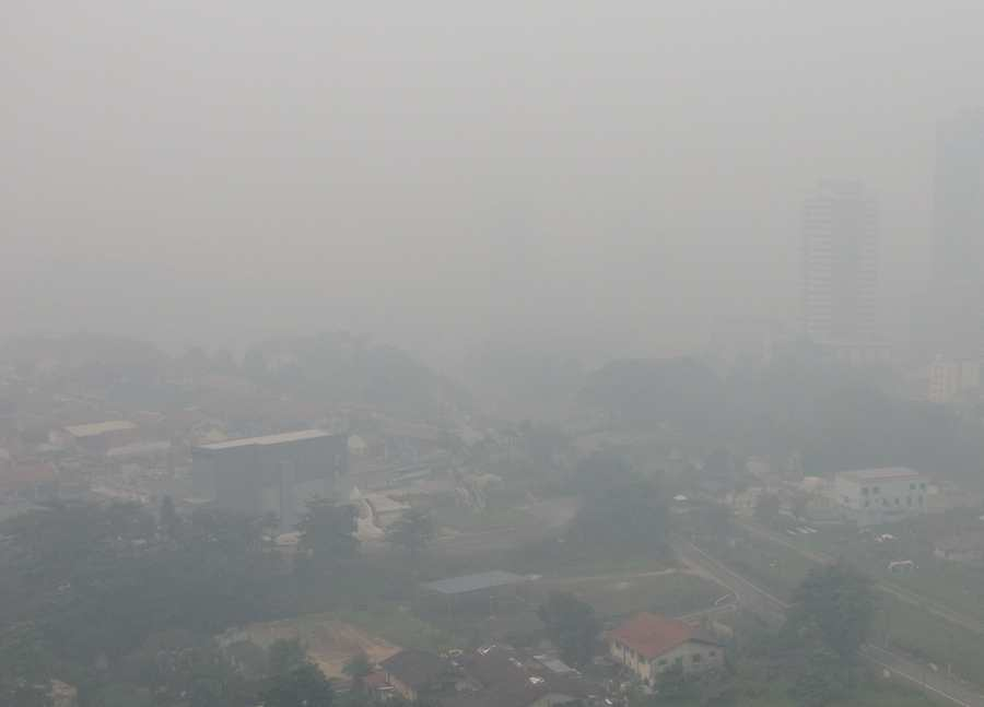 photo of the Haze over Johor Bahru