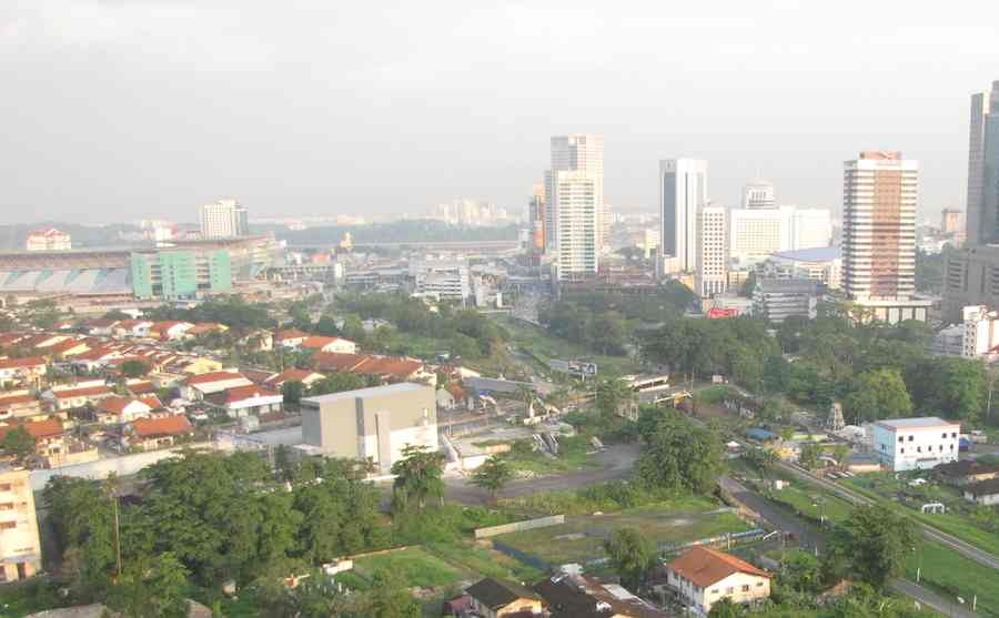photo of Johor Bahru on a clear day