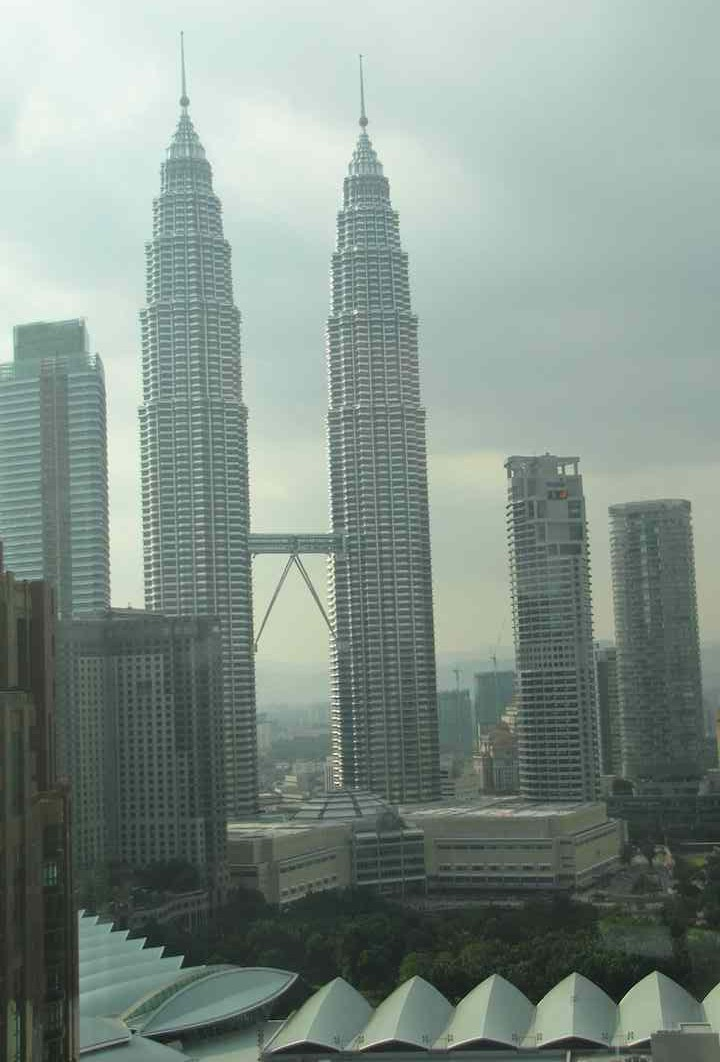 view out room window at prince hotel and residence kl