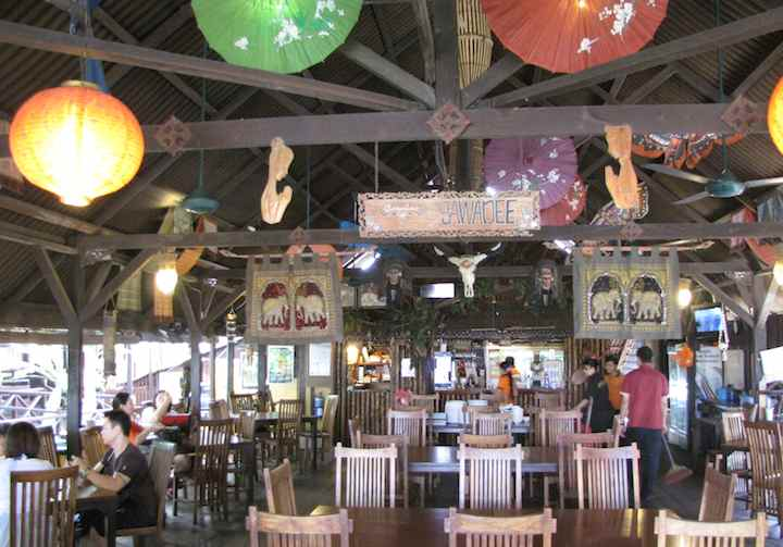 photo of the interior of the Carabao Thai Restaurant