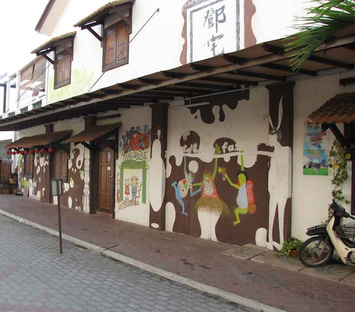 photo of art on the Tang house, Malacca, Malaysia