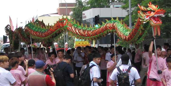 photo of Green Dragon in parade