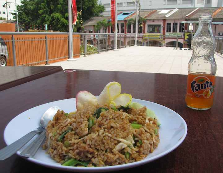 photo of nasi goreng sotong (squid fried rice)