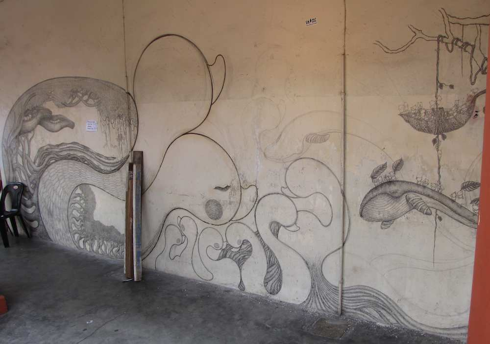 photo of Large view of mural near the beginning, Oct 2013
