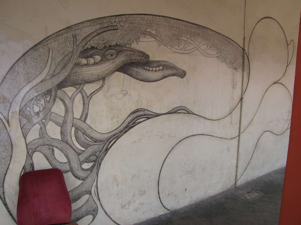 Street art - large drawing