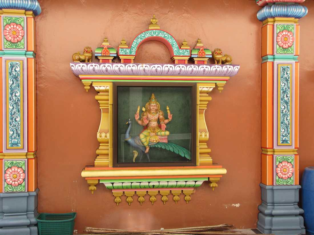 photo of artwork in Sri Mahamariamman Temple