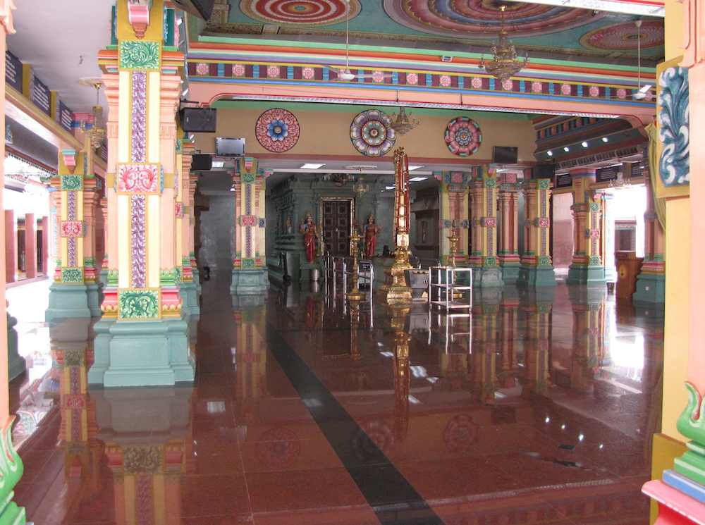 center of the Sri Mahamariamman Temple
