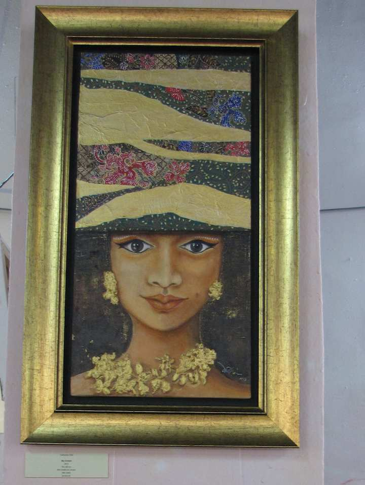 Painting of woman's face