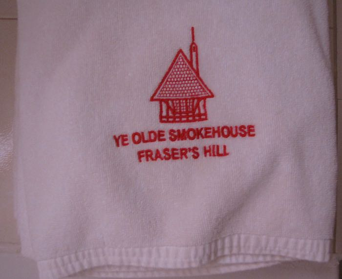 towels with Ye Olde Smokehouse logo