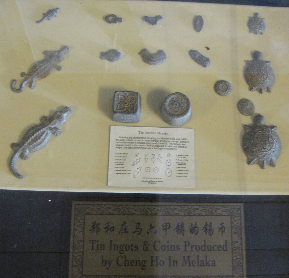 Tin coins and ingots minted by Cheng Ho
