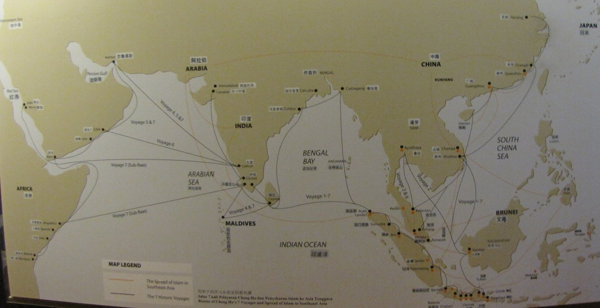 Map of Cheng Ho's voyages