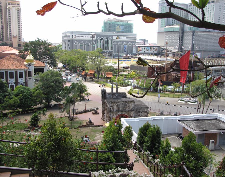 Overlooking A Famosa ruins from St. Paul's Hill
