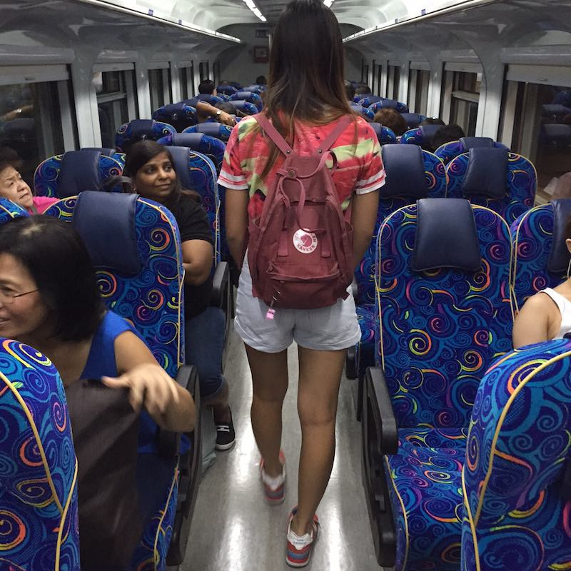 photo of the inside of the train